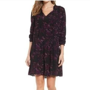 NWT Nordstrom Caslon Floral Drop-Waist Dress